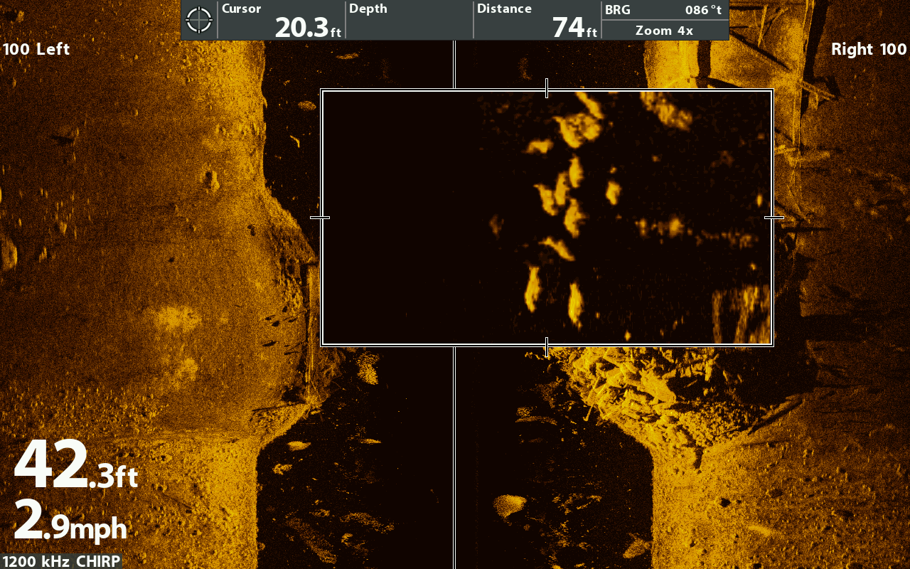side imaging tutorial (plus tips and tricks) » sonar wars, Fish Finder