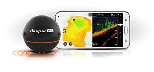 Deeper Smart Sonar PRO GPS Portable Wireless Fish Finder Shore /& Ice Fishing