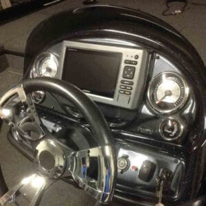 A flush mounted in dash fish finder